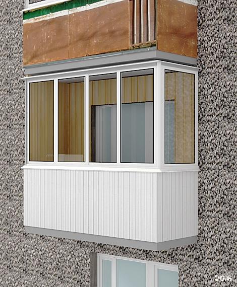Остекленение балконов п образного типа цены севастополь..