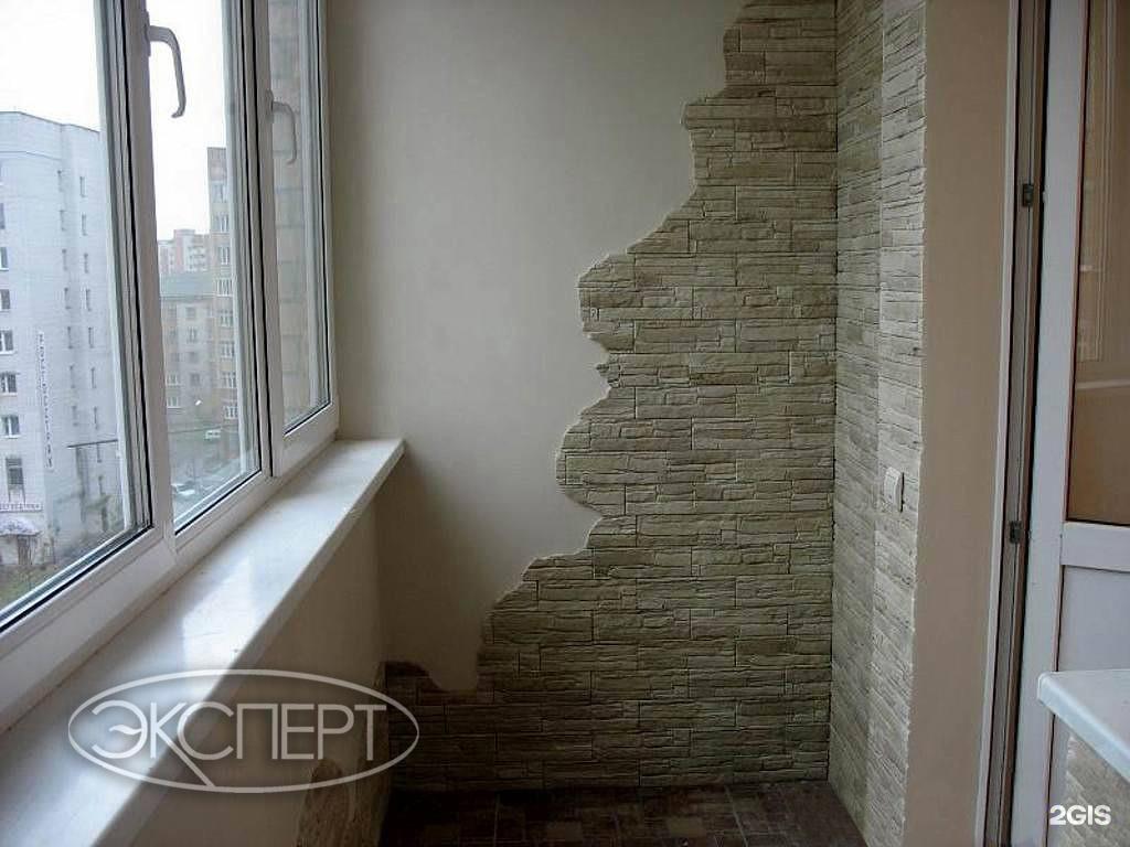 Отделка балконов декоративной штукатуркой в минске и области.
