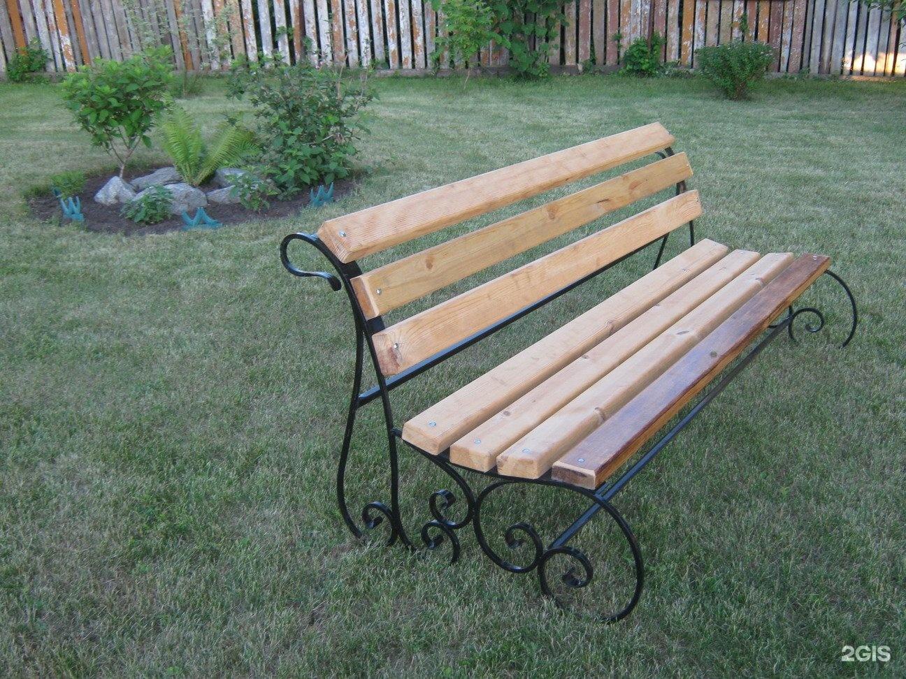 Как сделать железную скамейку