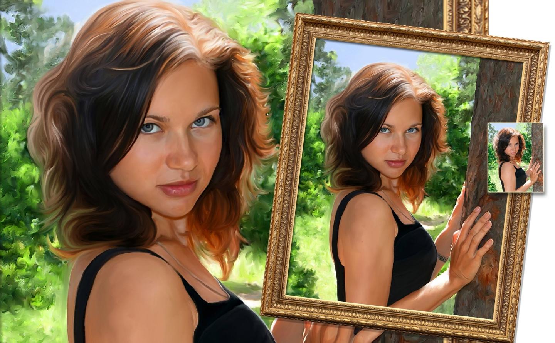 Как сделать в фотошопе фотографию как картину маслом