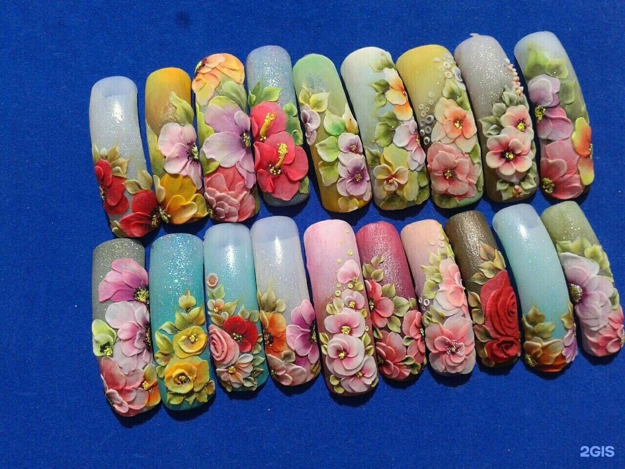 Фото лепки из акрила для ногтей