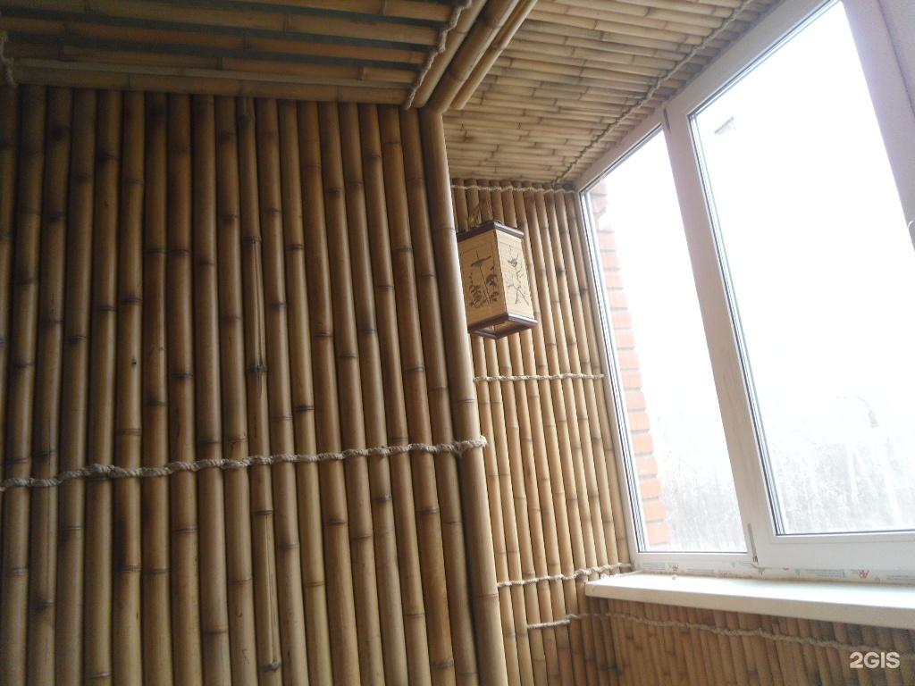 Лоджия в бамбуке.