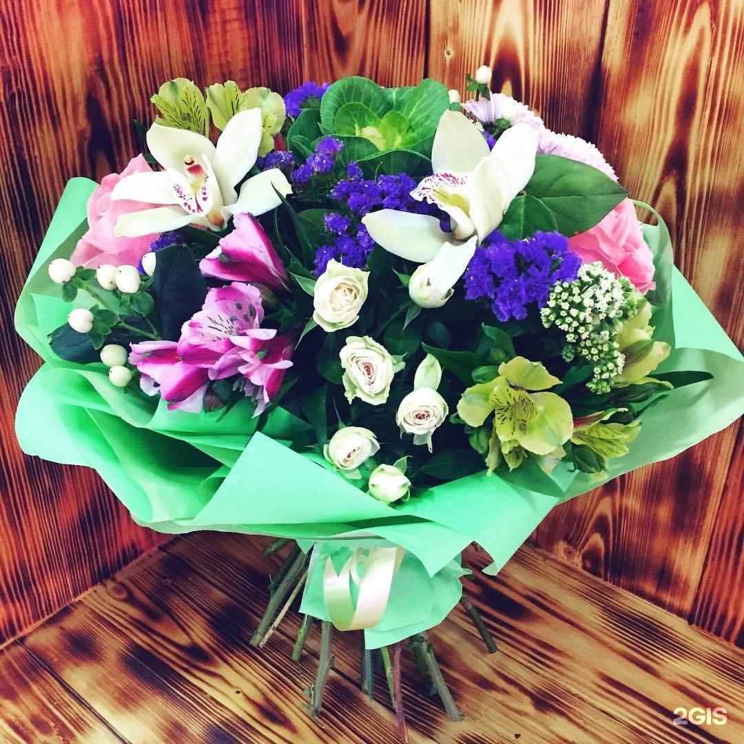 Самара цветы на дом, букет розы аква
