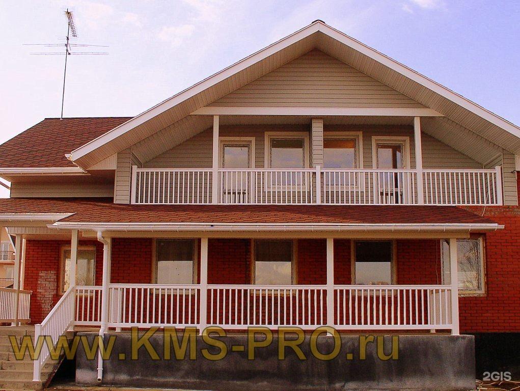 Белые перила пвх для веранд и балконов.