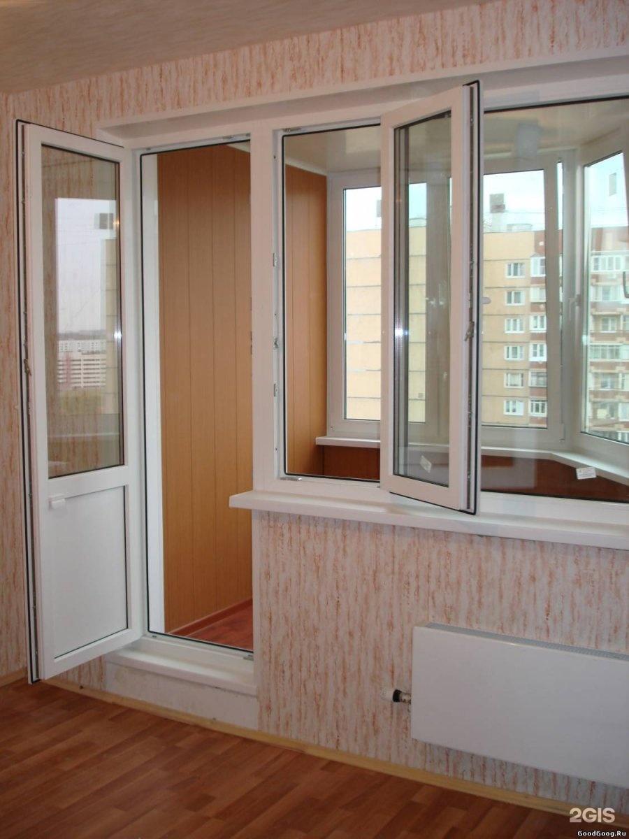 Установка балконного блока из профиля брюгманн в панельном д.
