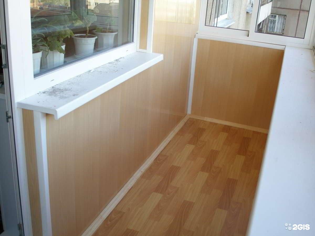 Внутренняя и внешняя отделка балконов и лоджий от компании п.